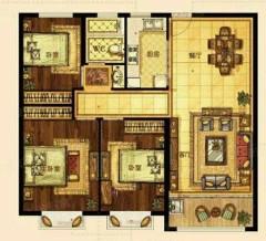 (东城区)阳光天地5室3厅3卫127m²中档装修